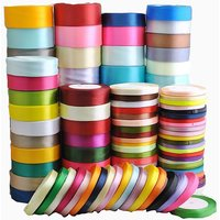 100 Rolls of 10 Meters each Mix Color Satin Ribbon Rolls Fabric Ribbon for Bows, Decorations and DIY