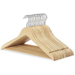 12 PCS 17 wooden cloth hangers