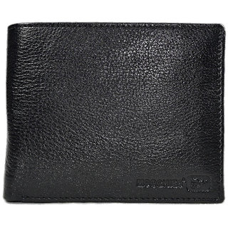 Moochies Black Mens pure leather wallet emzmocgw015black