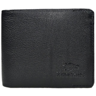 Moochies Black Mens pure leather wallet emzmocgw1608black