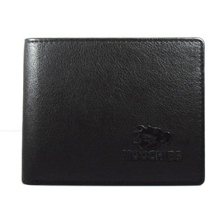 Moochies Black Mens pure leather wallet emzmocgw2022black