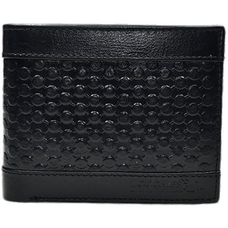 Moochies Black Mens pure leather wallet emzmocgw2024black