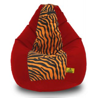 DOLPHIN XXXL Red/Golden Zebra-FABRIC-FILLED(with Beans)