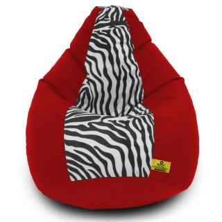 DOLPHIN XXXL Red/Zebra(Blk-White)-FABRIC-FILLED(with Beans)