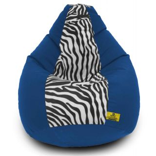DOLPHIN XXXL R.Blue/Zebra(Blk-White)-FABRIC-FILLED(with Beans)
