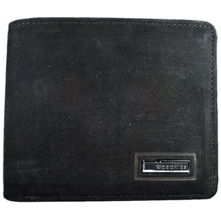 Moochies Black Mens pure leather wallet emzmocgw113black
