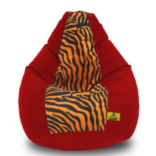 DOLPHIN XXL Red/Golden Zebra-FABRIC-FILLED(with Beans)