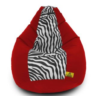 DOLPHIN XXL Red/Zebra(Blk-White)-FABRIC-FILLED(with Beans)