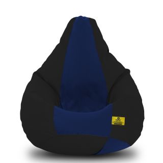 DOLPHIN XXL Black/N.Blue-FABRIC-FILLED(with Beans)