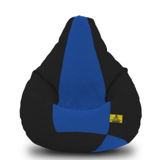 DOLPHIN XXL Black/R.Blue-FABRIC-FILLED(with Beans)