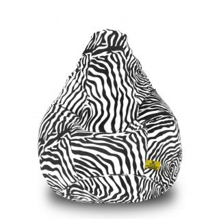 DOLPHIN XXL Blk-White- Zebra-FABRIC-FILLED(with Beans)