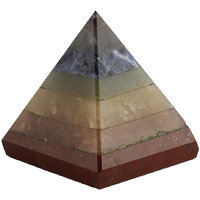 Satyamani Natural Seven Chakra Pyramid 40 Mm (SMAS2034N)