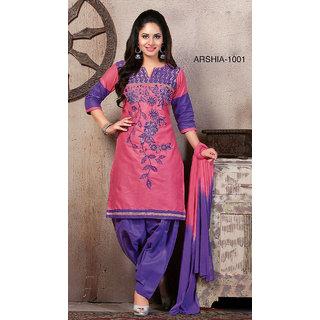 Trendz Apparels Pink Cotton Straight Fit Salwar Suit
