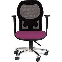 EARTHWOOD Fabric Office Chair         ( Color - Black, Purple)