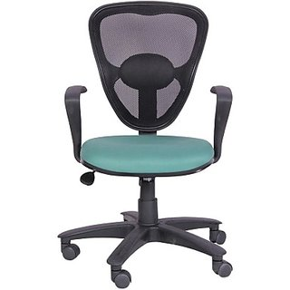 EARTHWOOD Fabric Office Chair     ( Color - Black Green)