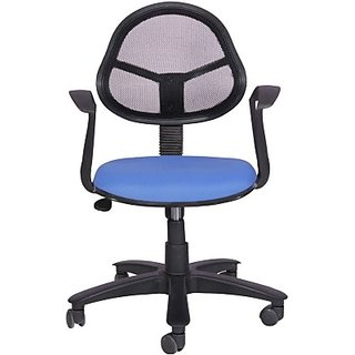 EARTHWOOD Fabric Office Chair     ( Color - Black Blue)
