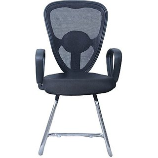 EARTHWOOD Fabric Office Chair     ( Color - Black Black)