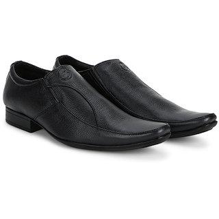 4S Black Leather Mens Formal Shoes