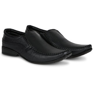 4S Black Leather Slip-ons Formal Shoes