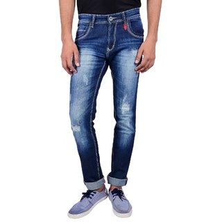 Mokajean Slim Fit Blue Mens  Jeans