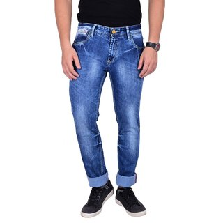 Mokajean Slim Fit Blue Mens  Jeans