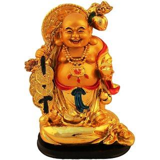 Aica feng shui laughing buddha happy man vastu showpeace-4