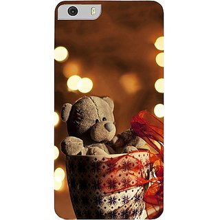 Casotec Teddy In Cup Design Hard Back Case Cover for Micromax Canvas Knight 2 E471