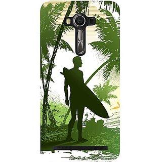 Casotec Beach Design Hard Back Case Cover for Asus Zenfone 2 Laser ZE550KL