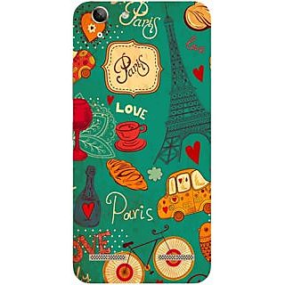 Casotec Paris Love Print Design Hard Back Case Cover for Lenovo Vibe K5 Plus