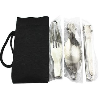 Futaba 3 in 1 Stainless Steel Outdoor Camping Tableware