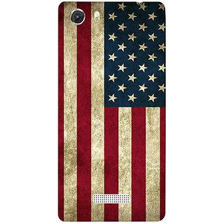 Casotec Vingate USA Flag Design Hard Back Case Cover for Micromax Canvas Unite 3 Q372