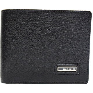 Moochies Black Mens pure leather wallet emzmocgw10pblack