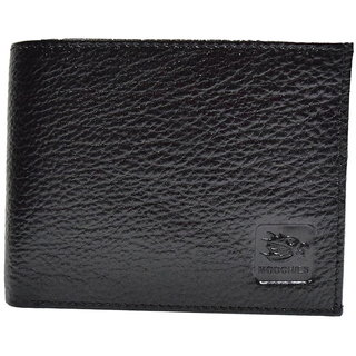 Moochies Black Mens pure leather wallet emzmocgw306black