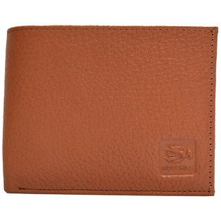 Moochies Tan Mens pure leather wallet emzmocgw306tan