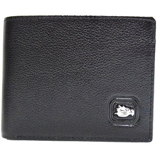 Moochies Black Mens pure leather wallet emzmocgw9pblack