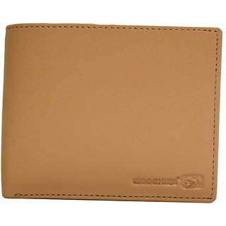 Moochies Beige Mens pure leather wallet emzmocgwN303beige