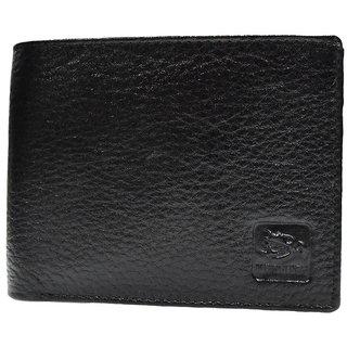 Moochies Black Mens pure leather wallet emzmocgwN304black
