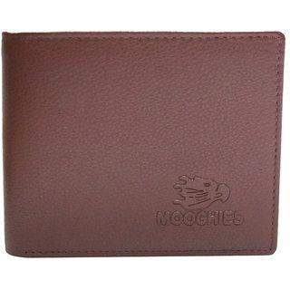 Moochies Tan Mens pure leather wallet emzmocgwR60tan