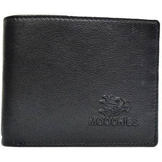 Moochies Black Mens pure leather wallet emzmocgwR61black