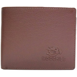 Moochies Tan Mens pure leather wallet emzmocgwR63tan