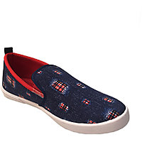 Evok Mens Blue And Red  Slip On Sneakers