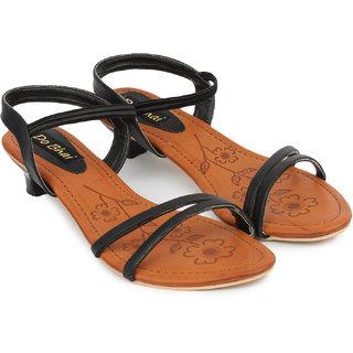Do Bhai WomenS Black Heels