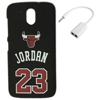 YGS Printed Matte Back Cover Case Jordan For HTC 526-Black With Audio Splitter