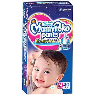 Mamy Poko Extra Absorb Pants Diaper M - 40 Pcs