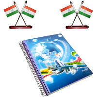 3D Cover Diary and Cross Indian Flag