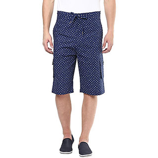 Hypernation Printed Mens Blue Three Fourths