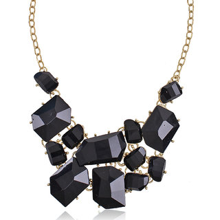 Shining Diva Non Plated Black Necklace Set For Women-CFJ4268np