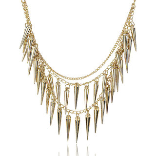 Shining Diva Non Plated Gold Necklace Set For Women-CFJ4644np