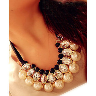 Shining Diva Non Plated Multi Necklace Set For Women-CFJ5596np