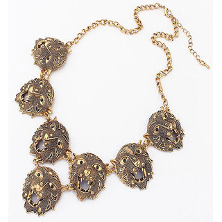 Shining Diva Non Plated Gold Necklace Set For Women-CFJ6034np